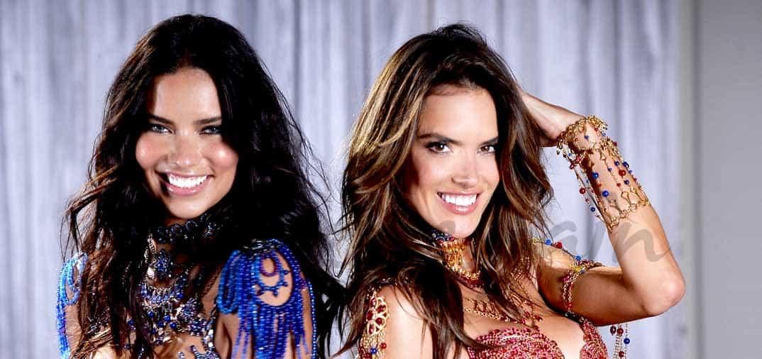 Adriana Lima y Alessandra Ambrosio se visten con rubíes y zafiros