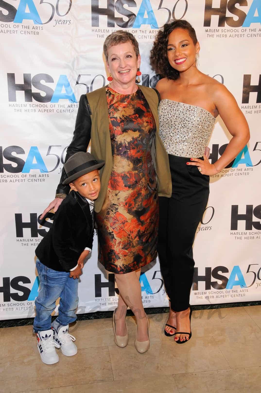 Alicia-Keys-su-madre-y-su-hijo