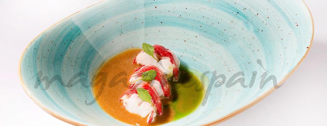 Bogavante con crema marina y untuoso de cebollino