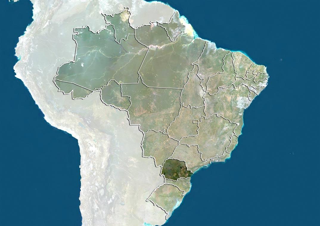 Curitiba desde el Satelite