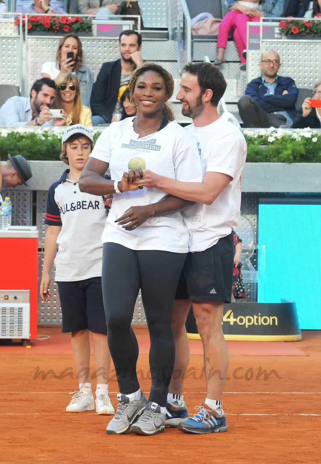 ¿Cuánto mide Dani Rovira? - Altura Dani-Rovira-y-Serena-Williams
