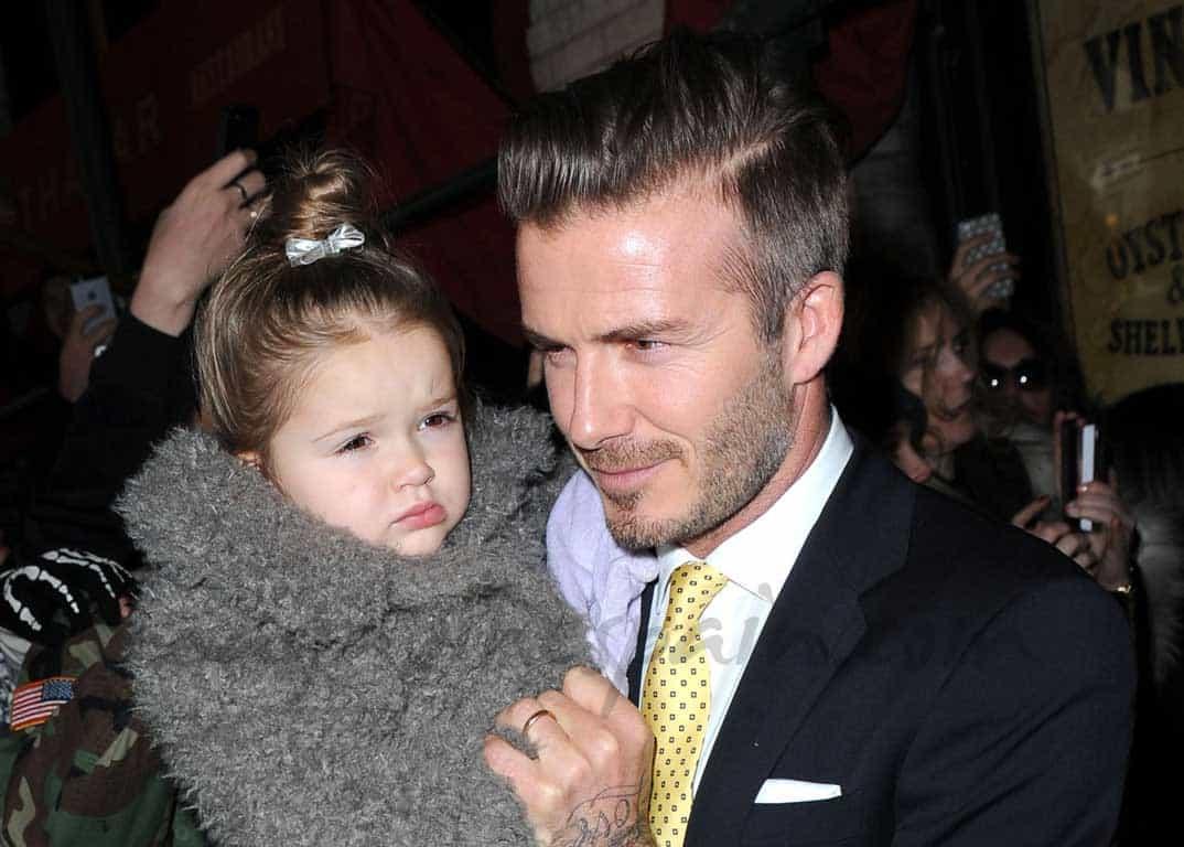 """David Beckham con su """"princesa"""""""