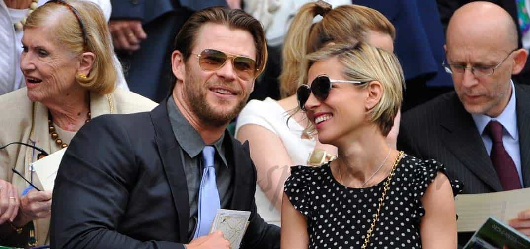 Elsa Pataky y su marido en Wimbledon
