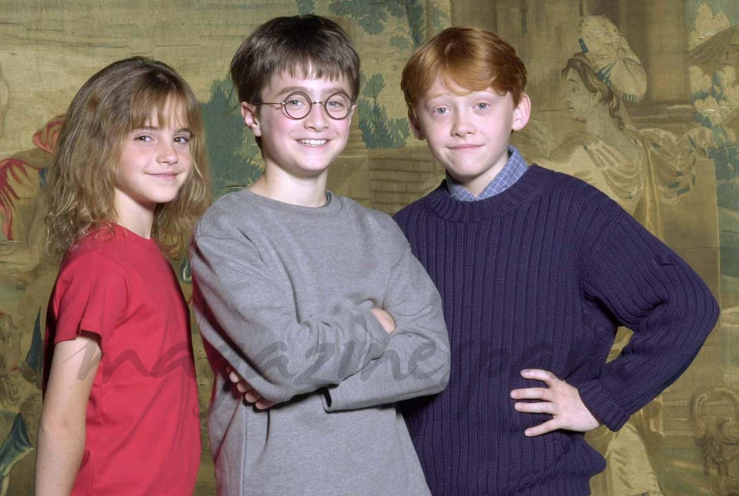 Daniel Radcliffe, Emma Watson y Rupert Grint - Harry Potter (2000)