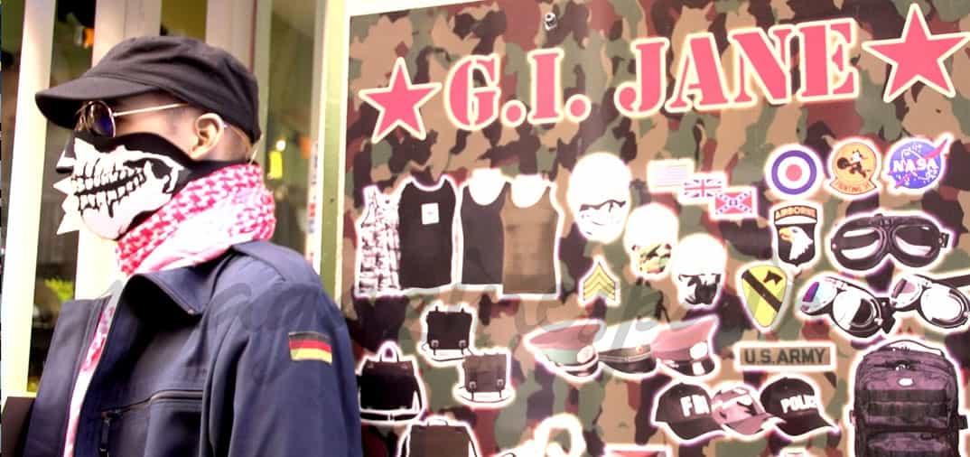 Fran Larrañaga y la moda militar desde G.I. Jane