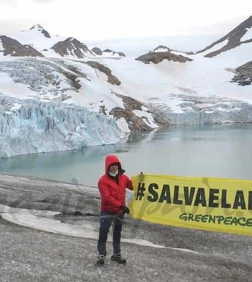 Alejandro Sanz con Greenpeace en el Ártico