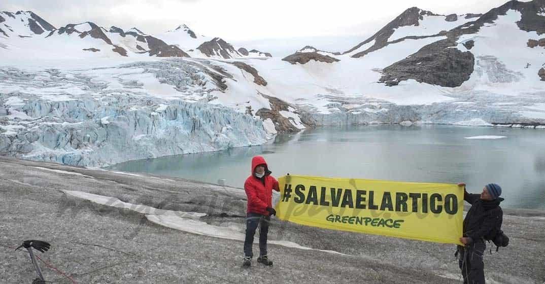 Alejandro Sanz en el Artico con Greenpeace