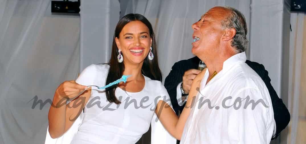 Irina Shayk, madrina de honor en la fiesta de cumpleaños del billonario Fawaz Gruosi