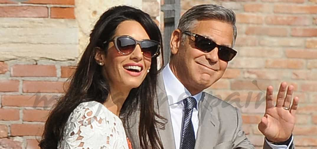 George Clooney y Amal Alamuddin, primeras fotos después de su boda