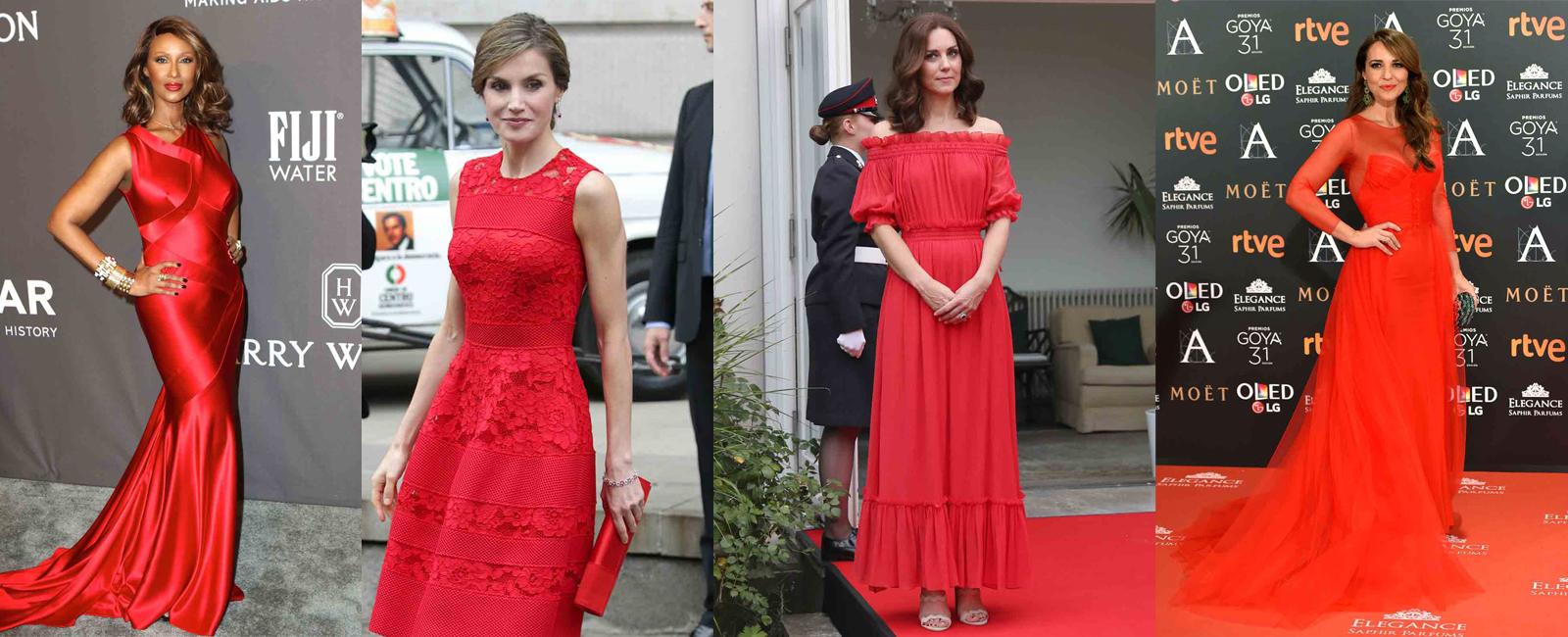 Las celebrites apuestan por el color rojo en 2017- Parte I