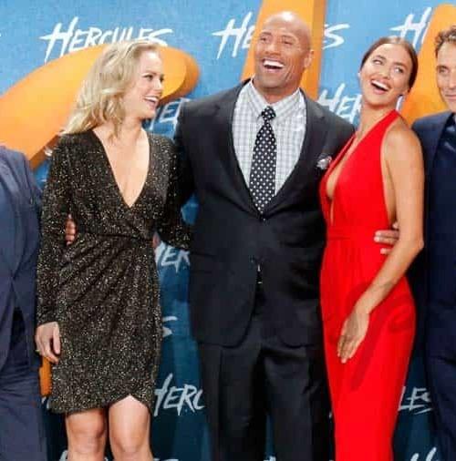 """Irina Shayk y Dwayne The Rock Johnson promocionan en Berlín, """"Hércules"""""""