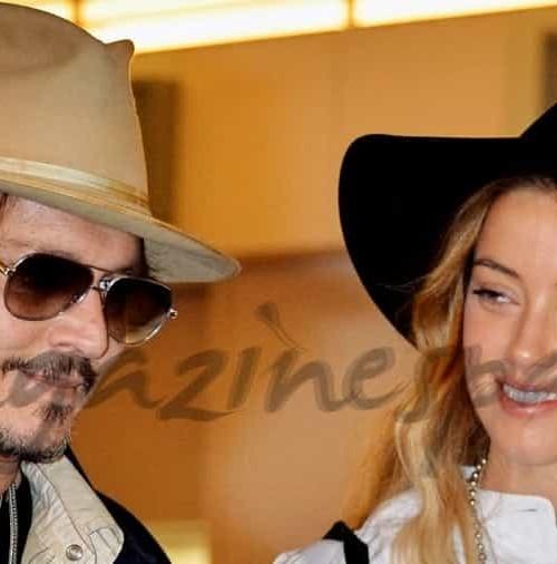 Johnny Depp y su novia Amber Heart en Tokio