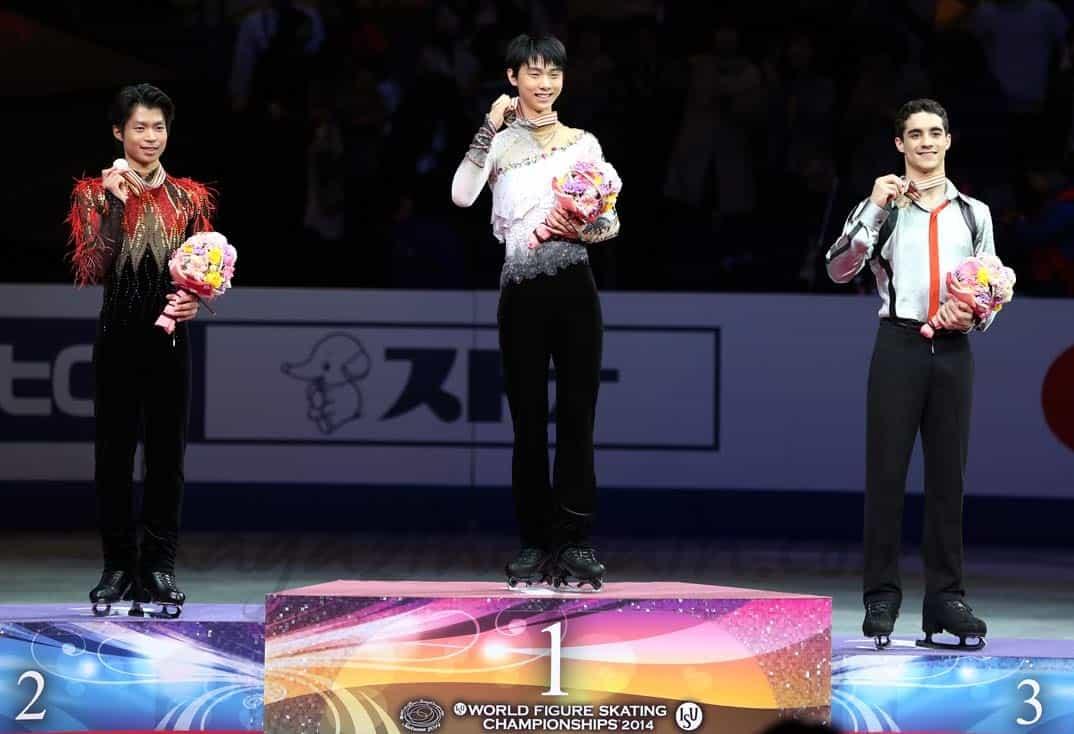 Javier-Fernandez, Tatsuki Machida y Juzuru Hanyu