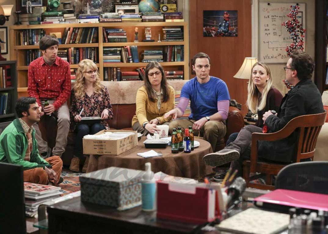 "Christine Baranski, Jim Parsons, Johnny Galecki, Kaley Cuoco, Kevin Sussman - ""The Big Bang Theory""-"