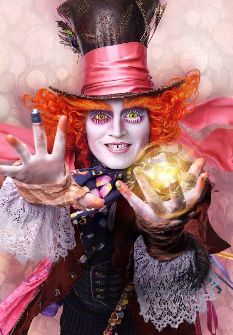 Johnny Depp- El Sombrerero- Alicia a través del espejo-.