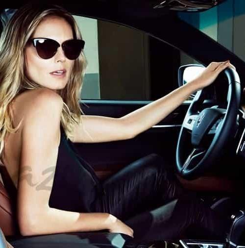 Heidi Klum al volante