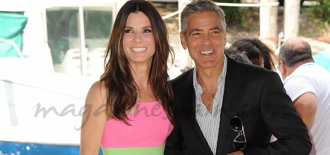 George Clooney y Sandra Bullock en Venecia