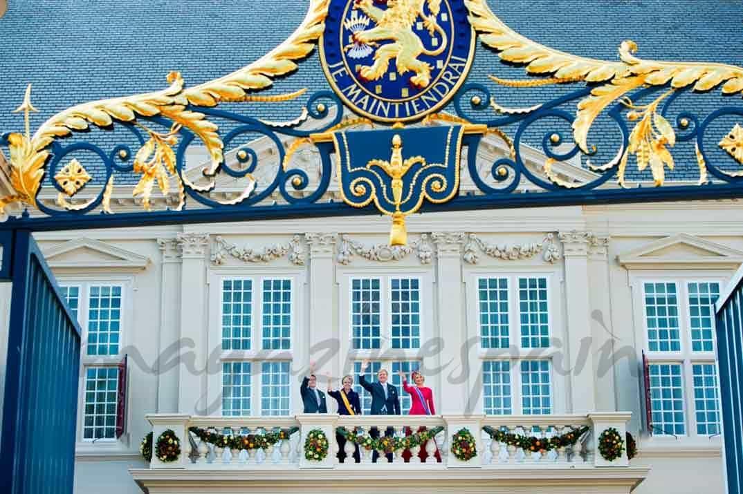 Reyes de Holanda y Principes Constantino y Laurentien