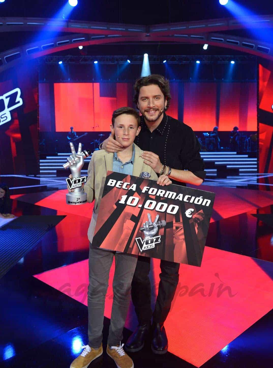 José María, ganador La Voz Kids II con Manuel Carrasco