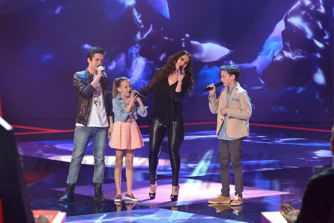 """Malú con los finalistas de """"La Voz Kids II"""""""
