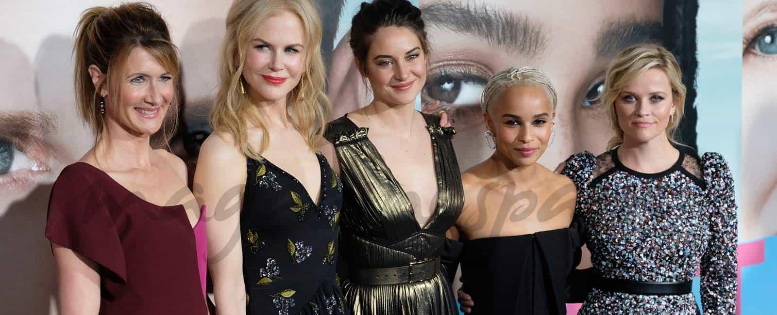 Nicole Kidman, Reese Witherspoon y Shailene Woodley estrenan la serie 'Big Little Lies'