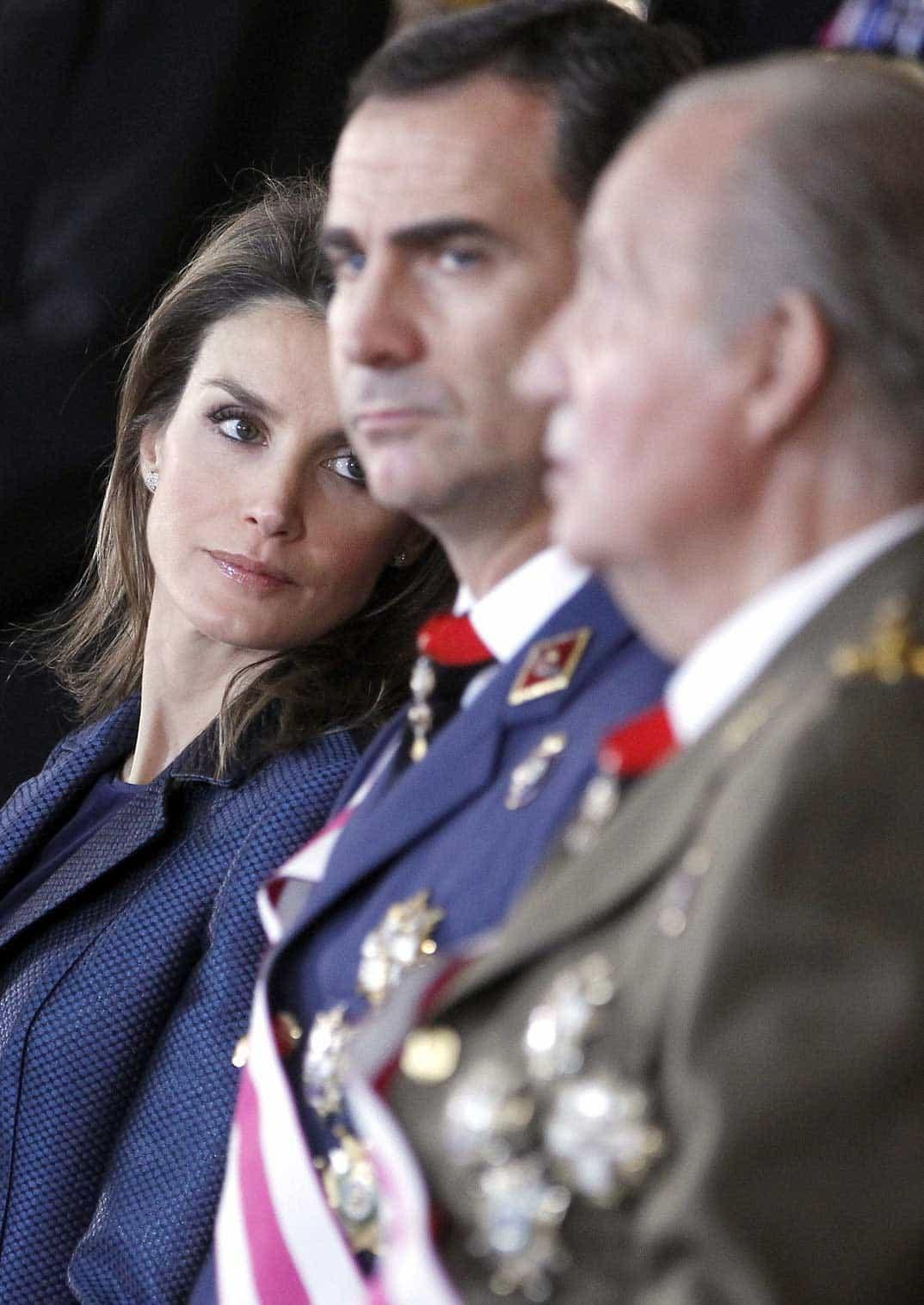 Princesa Letizia, Príncipe Felipe y el rey don Juan Carlos