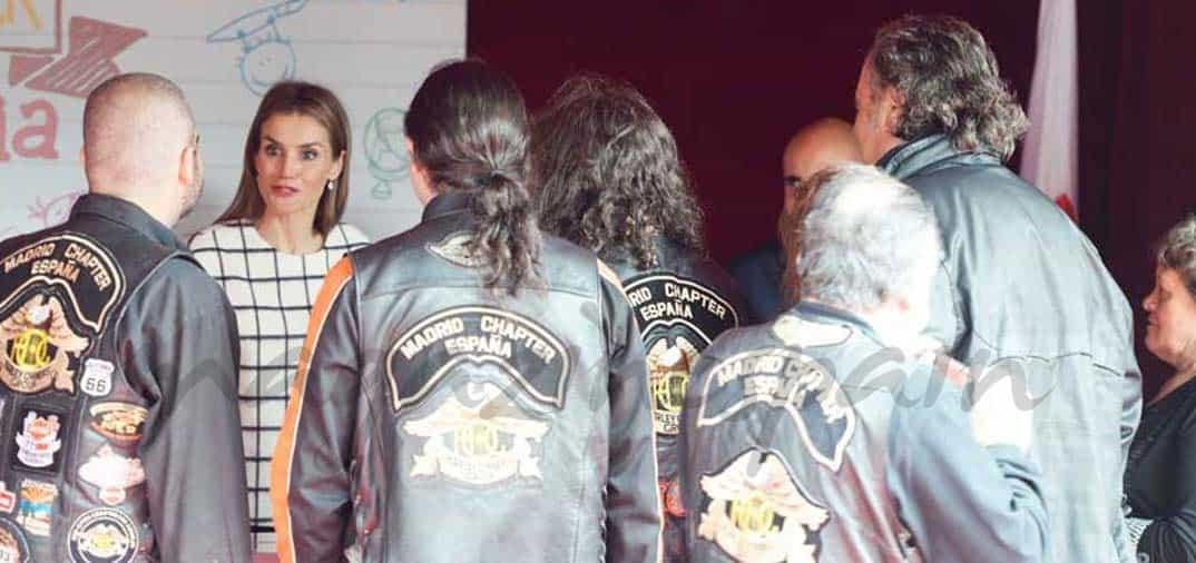 Los rockeros con doña Letizia en la «Fiesta de laBanderita»