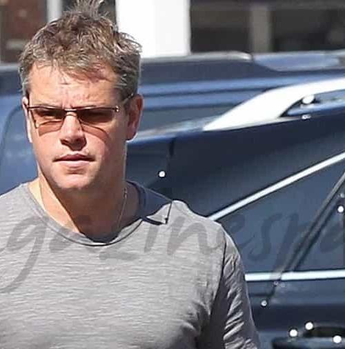 Matt Damon, su mujer y sus cuatro hijos