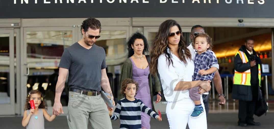 Matthew Mcconaughey y Camila Alves presumen de familia