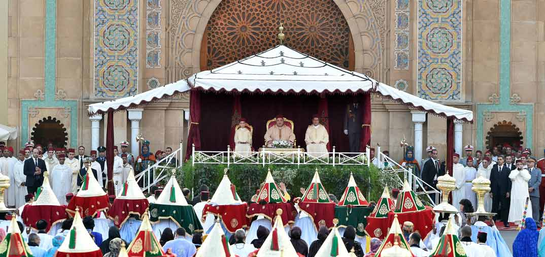 Empieza la boda, de Moulay Rachid y Oum Keltoum Boufares, en Rabat