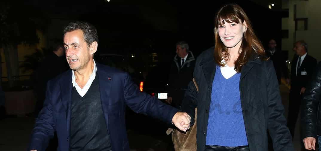 La felicidad de Carla Bruni y Nicolas Sarkozy, en San Valentín
