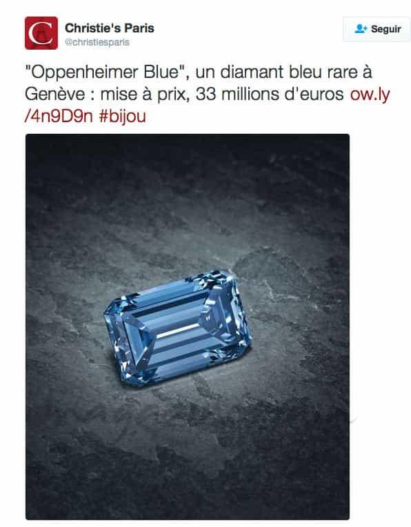 oppenheimer blue el diamante mas grande del mundo sale a subasta