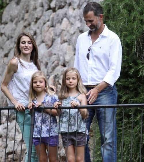 Los príncipes de Asturias con sus hijas en Mallorca