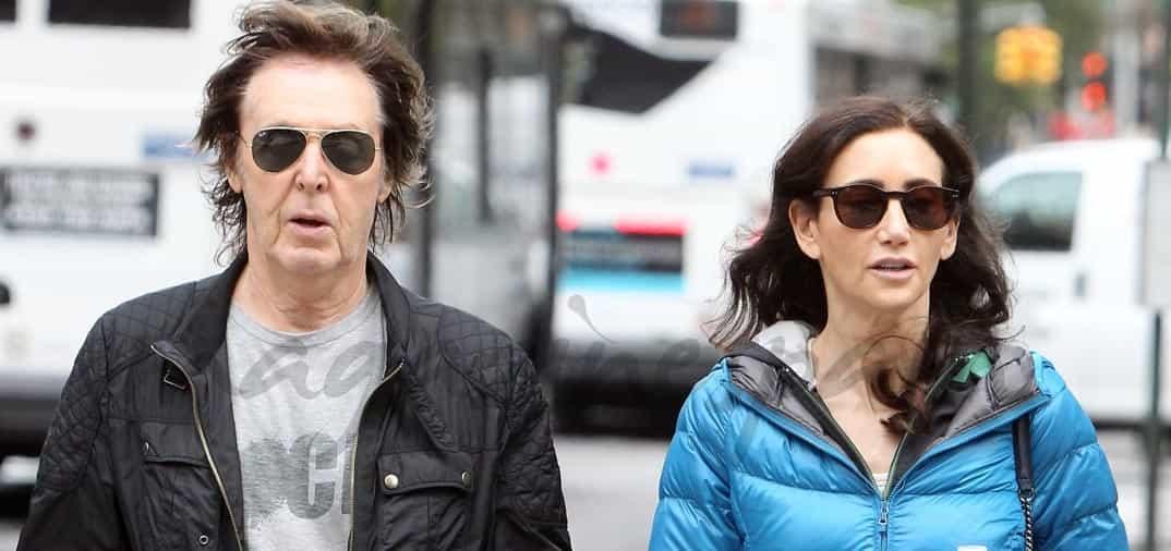 Paul McCartney y su esposa Nancy Shevell, en forma