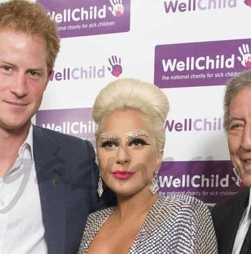 Lady Gaga y el príncipe Harry, unidos por una buena causa