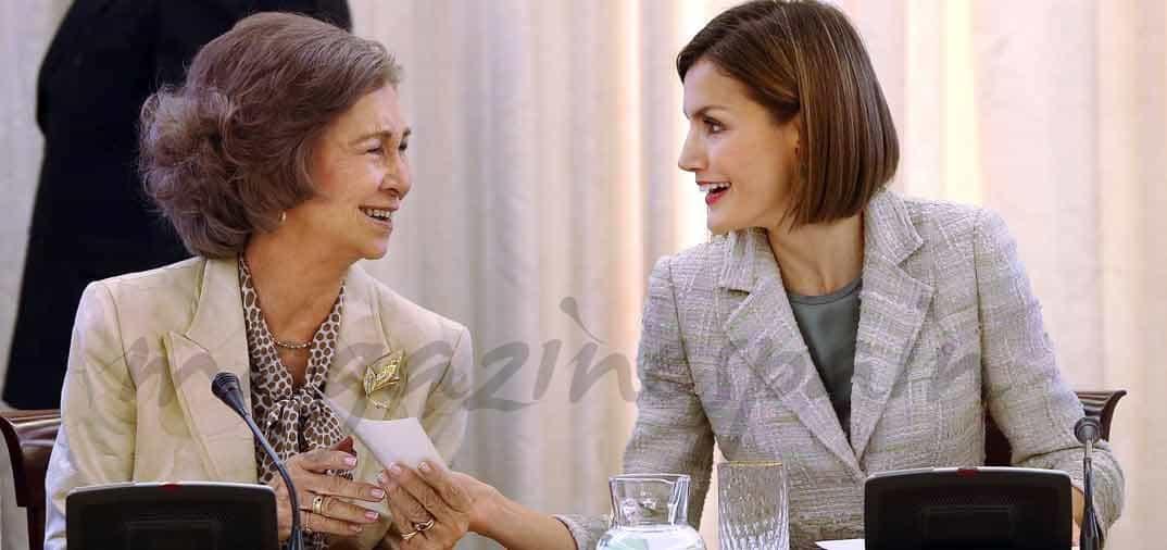 La complicidad de las reinas Sofía y Letizia