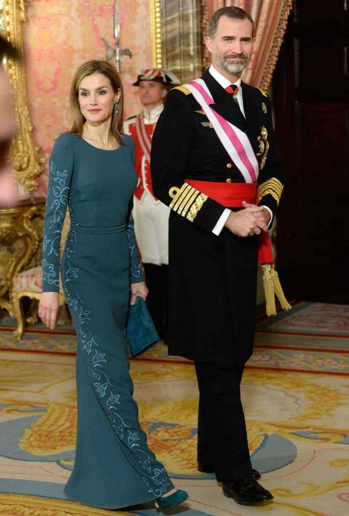 Reyes de Espana en la Pascua Militar