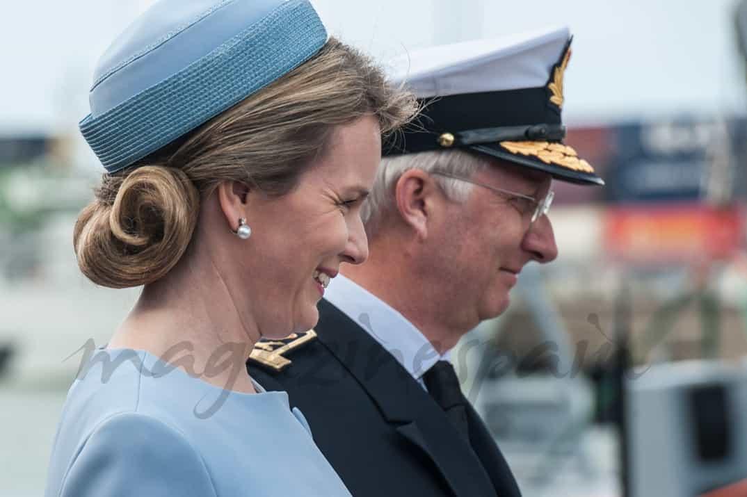 Rey Felipe y reina Matilde de Belgica