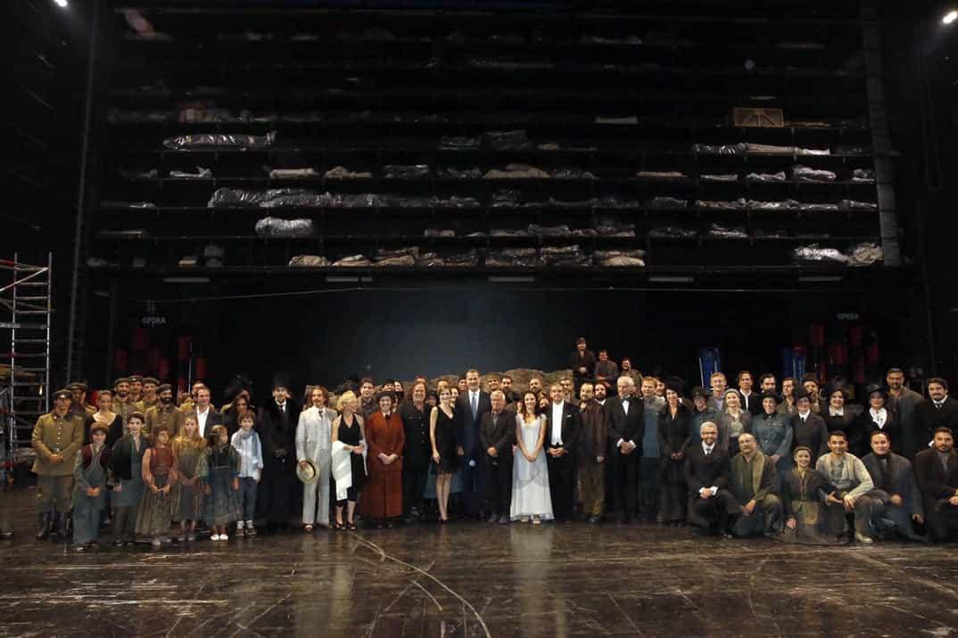 ey Felipe con la reina Letizia en el Teatro Real© Casa de S.M. el Rey