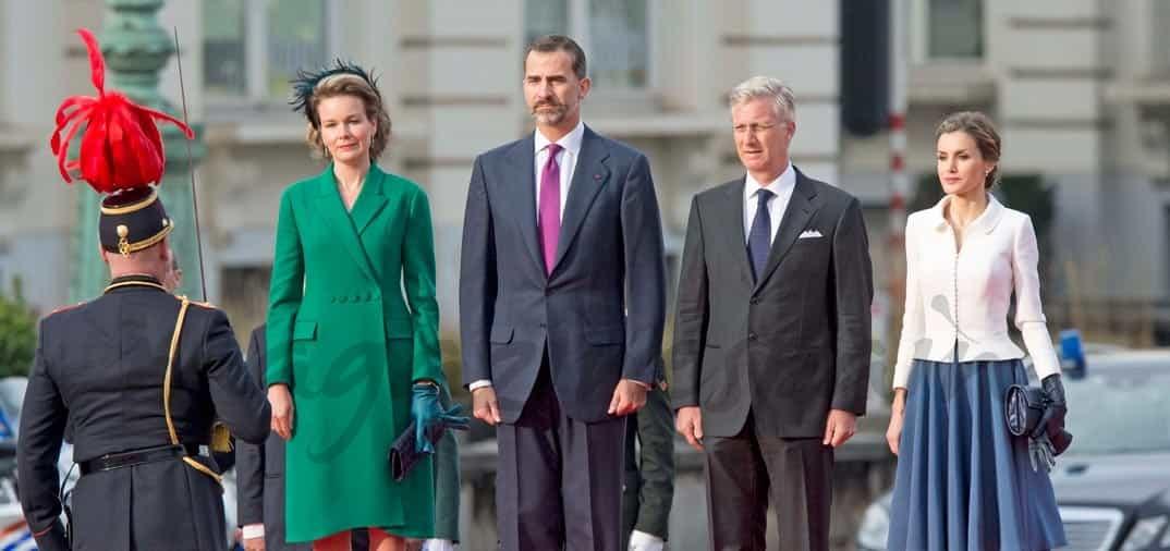 La elegancia de la reina Letizia en Bélgica