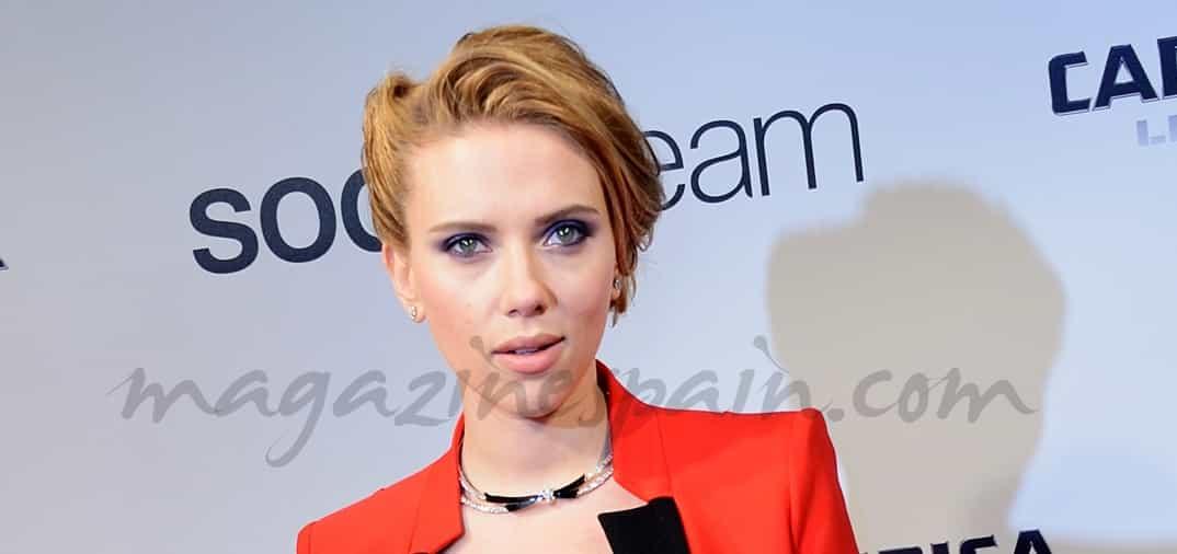 Scarlett Johansson bellísima, embarazada