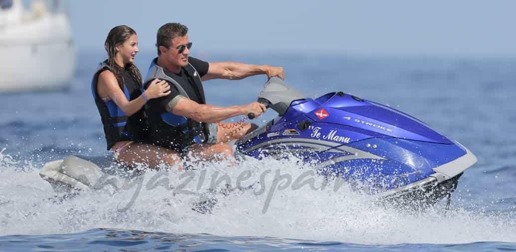 Las vacaciones de la familia Stallone