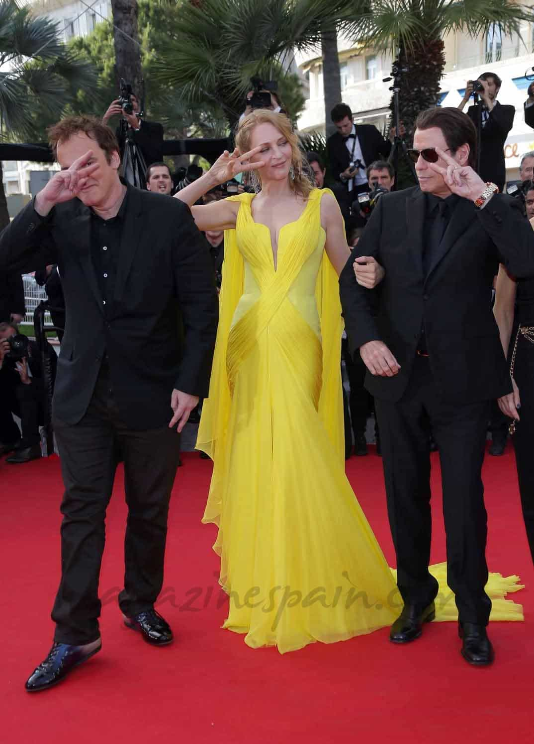 Uma-Thurman,-John-Travolta-y-Quentin-Tarantino