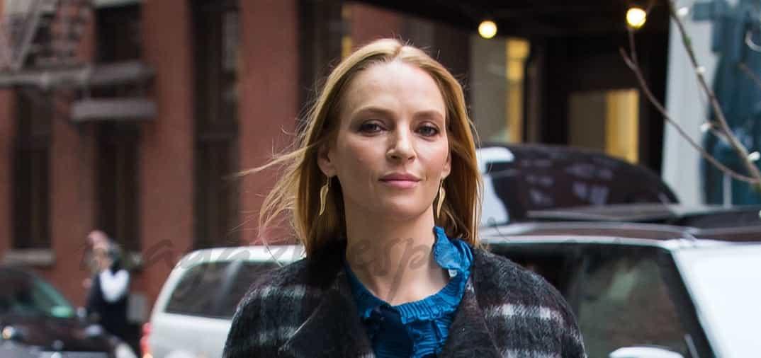 Uma Thurman en el Soho de Nueva York