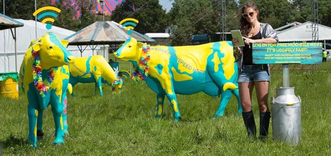 Las vacas wi-fi