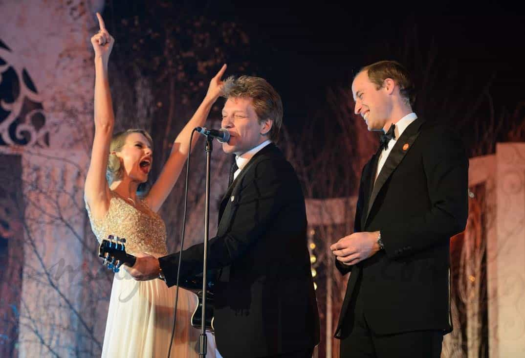 Principe Guillermo, Bon Jovi, Taylor Swift