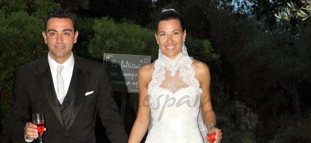 Xavi Hernandez y Nuria Cunillera, boda