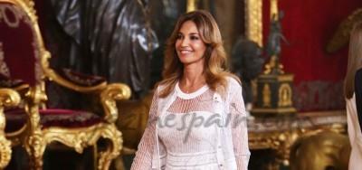 En el Palacio Real, Mariló Montero atrajo muchas miradas