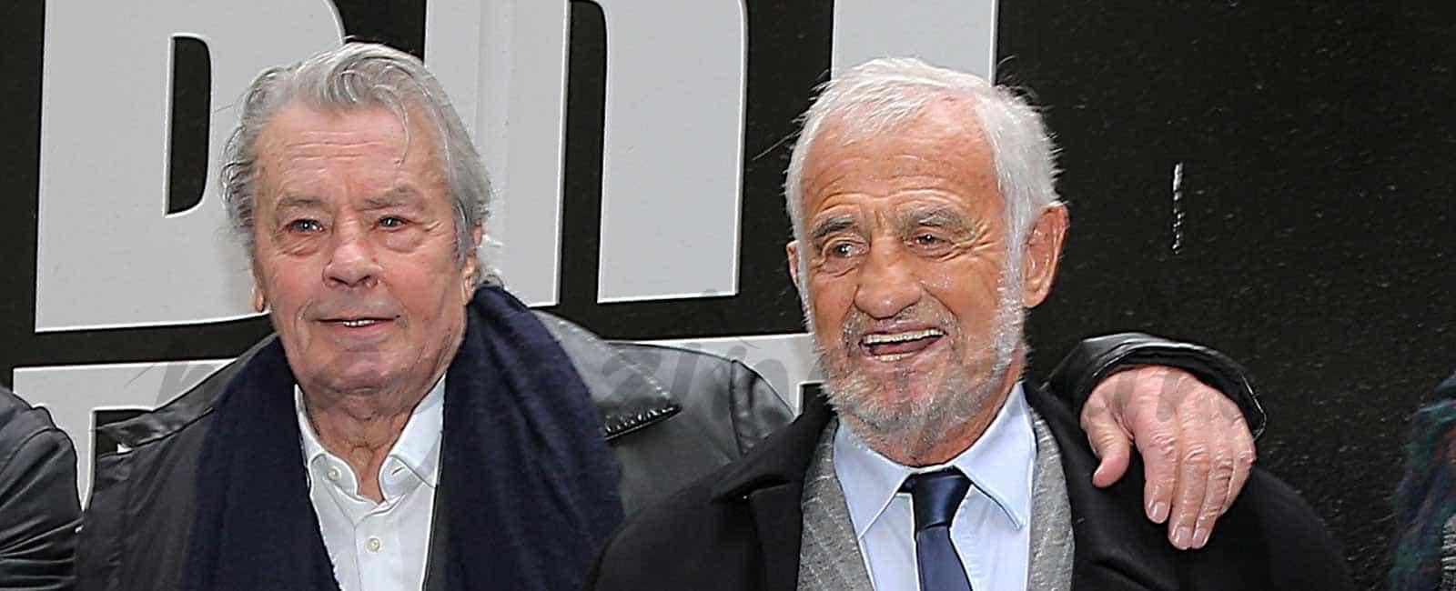 Alain Delon y Jean-Paul Belmondo juntos de nuevo