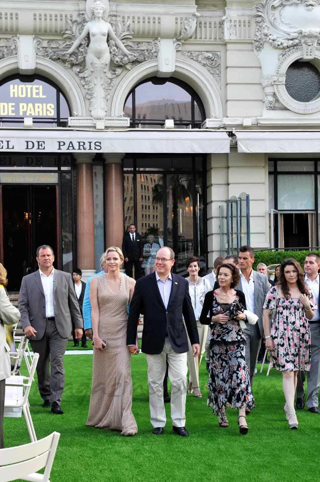 Alberto y Charlene en Mónaco